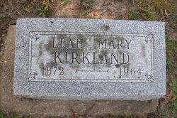 Leah Mary <I>Betts</I> Kirkland