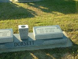 Alice <I>Johnson</I> Dorsett