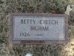 Betty Lucille <I>Creech</I> Bigham