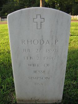 Rhoda P Simpson