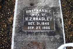Nannie <I>King</I> Bradley