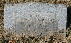 Loraine <I>Sneed</I> Parsons