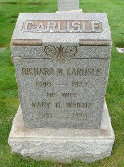 Mary Hannah <I>Wright</I> Carlisle