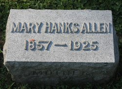 Mary <I>Hanks</I> Allen