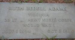 2LT Ruth Eliza <I>Bedell</I> Adams