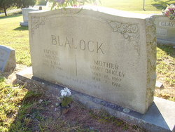 Mary Hasseltine <I>Oakley</I> Blalock