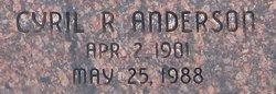 Cyril R Anderson