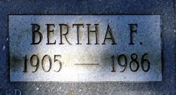 Bertha Florence <I>Buck</I> Bowser