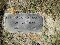 Betty Jeane <I>Cannon</I> Downs