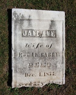 Jane Ann <I>Van Alstyne</I> Barry