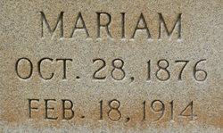 Mariam <I>Tannehill</I> Gilliland