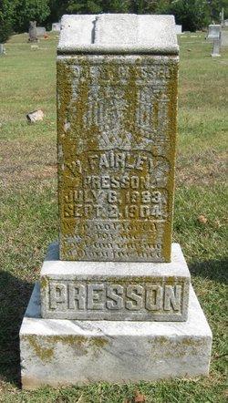 """William Fairley """"Fairley"""" Presson"""