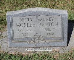 Betty <I>Mauney</I> Benton
