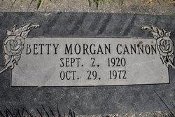 Betty Jane <I>Morgan</I> Cannon