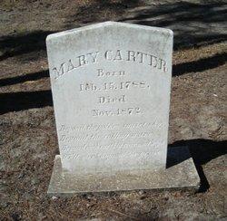 Mary <I>Goff</I> Carter