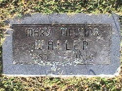 Mary Melvina <I>Collins</I> Waller
