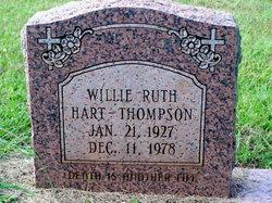 Willie Ruth <I>Hart</I> Thompson
