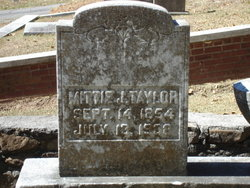 Mittie Jane <I>Wood</I> Taylor
