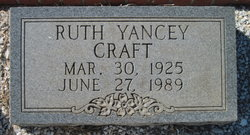 Ruth <I>Yancey</I> Craft
