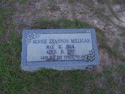 Minnie <I>Shannon</I> Milligan