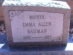 Emma <I>Balmer</I> Allen Bauman