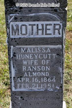 "Malissa Ann ""Lizzie"" <I>Huneycutt</I> Almond"