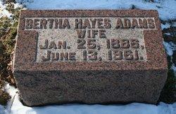 Bertha G <I>Hays</I> Adams