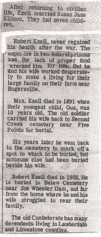 Robert M Ezell (1833-1904) - Find A Grave Memorial