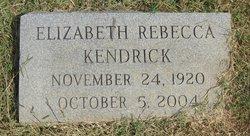"Elizabeth Rebecca ""Lib"" Kendrick"