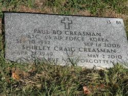 Shirley Craig <I>Taylor</I> Creasman