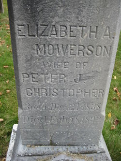 Elizabeth Ann <I>Mowerson</I> Christopher