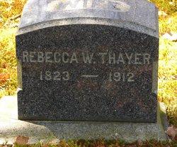Rebecca W. <I>Richards</I> Thayer
