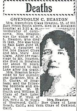 Gwendolyn Winter <I>Clays</I> Heaston