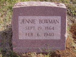 Manervia Jennie <I>McClure</I> Bowman
