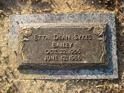 Etta Dean <I>Sykes</I> Bailey