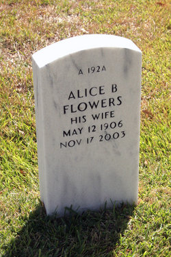 "Alice B ""Nannie"" Flowers"