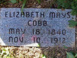 "Elizabeth ""Betty"" <I>Mays</I> Cobb"
