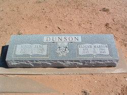 """Mary Jane """"Molly"""" <I>Markham</I> Dunson"""