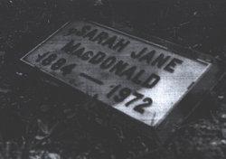 Sarah Jane <I>MacIntyre</I> MacDonald