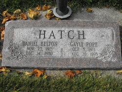 Gayle <I>Pope</I> Hatch
