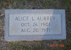 Alice L. <I>West</I> Aubrey