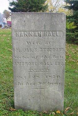 Hannah <I>Hall</I> Stoddard