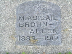Mary Abigail <I>Brown</I> Allen