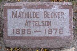 Mathilde Claudine <I>Becker</I> Attelson