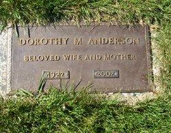 Dorothy M <I>Langdon</I> Anderson