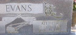 Kittie Rue <I>Burns</I> Evans