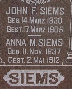 Anna M. <I>Backenkoeler</I> Siems