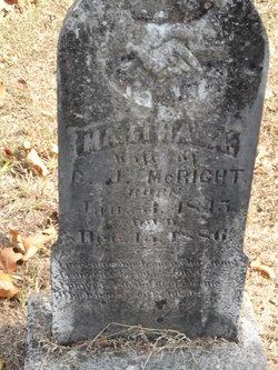 Martha Ann <I>Sparks</I> McRight