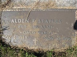 Alden F Staples