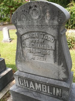 Amanda Todd Chamblin 1848 1914 Find A Grave Memorial